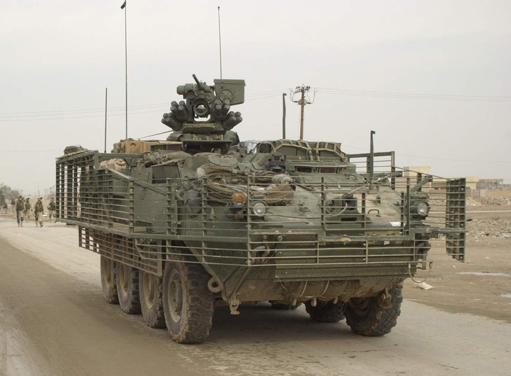 Stryker Woodland Camo and MGS with Slat Armor - FORUMS ...