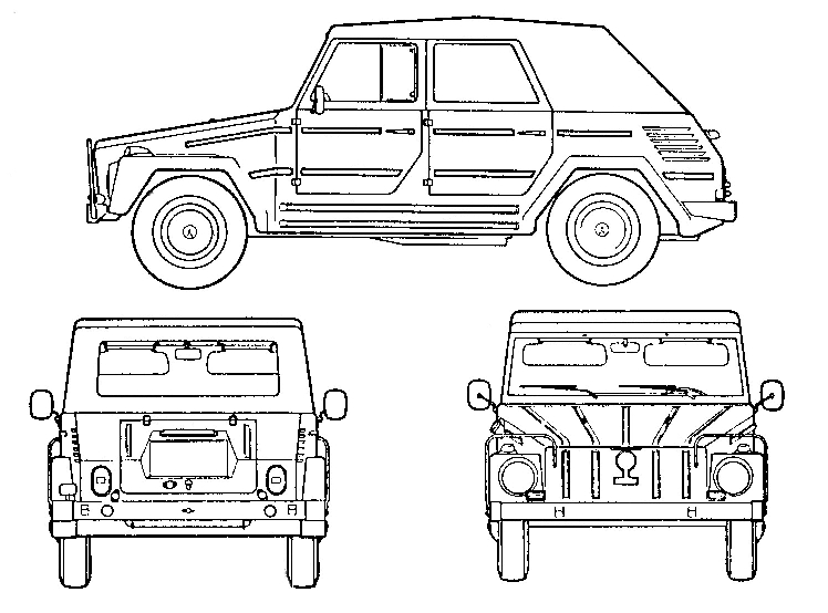 Volkswagen Line Drawing Vehicle Line Drawing